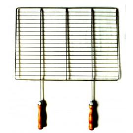 Grilovací rošt - NEREZ - 53 x 38 cm, dřevěná rukojeť