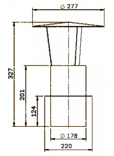 Komínová stříška pr. 180