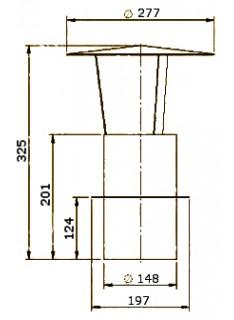 Komínová stříška pr. 150