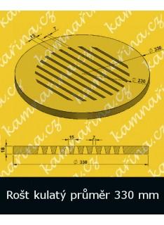 Litinový rošt kulatý masivní pr. 330 mm