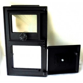 Kvalitní litinový topný štít se sklem