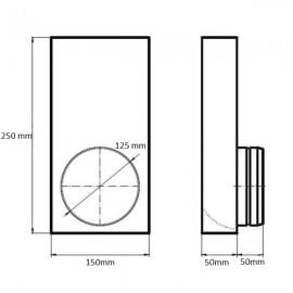 Kanál pro přívod spalovacího vzduchu - přechodka Ø 125 mm