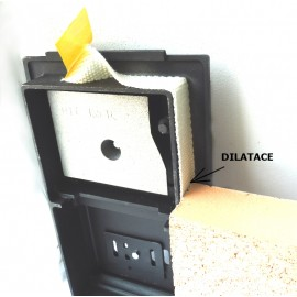 Plochá samolepicí těsnící páska 35 x 2 mm 1 m