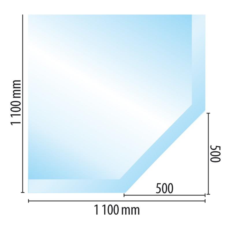 Sklo pod kamna typ G1, 1100 x 1100 x 10 mm