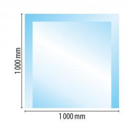 Sklo pod kamna typ E2, 1000 x 1000 x 10 mm