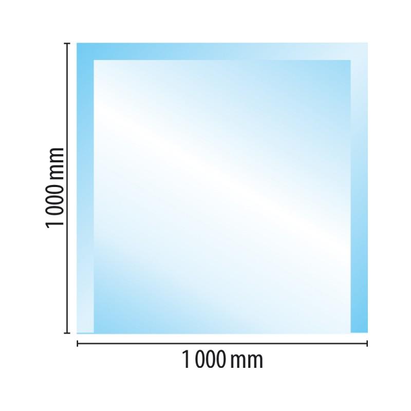 Sklo pod kamna typ E2, 1000 x 1000 x 8 mm