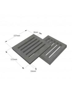 Litinový rošt 133 x 157 mm (5x6 palců)
