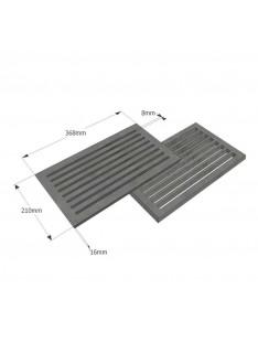 Litinový rošt 210 x 368 mm (8x14 palců)
