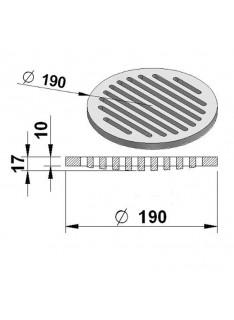 Litinový rošt kulatý 190 mm