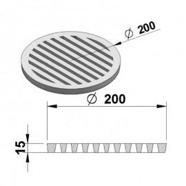 Litinový rošt kulatý 200 mm