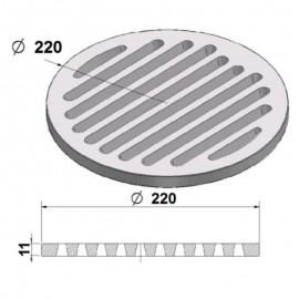 Litinový rošt kulatý 220 mm