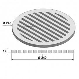 Litinový rošt kulatý 240 mm