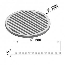 Litinový rošt kulatý 280 mm