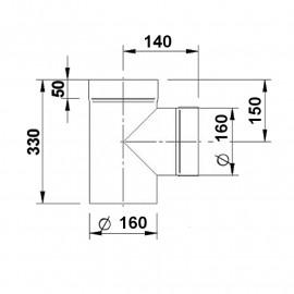 Tkus pr. 160 mm (délka 330 mm)