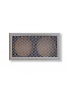 Mřížka starobronz  365 x 195/ 2x vývod 150mm