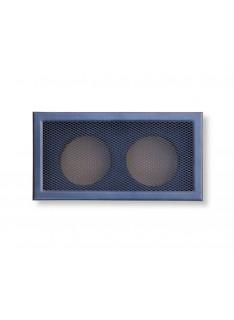 Mřížka antracit 365 x 195/ 2x vývod 125mm