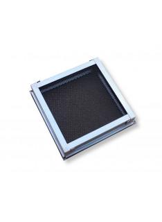 Mřížka stříbrná antika195 x 195 mm