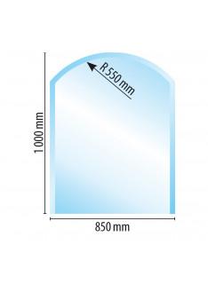 Sklo pod kamna typ B5, 1000 x 850 x 6 mm