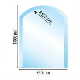 Sklo pod kamna typ B5, 1000 x 850 x 8 mm