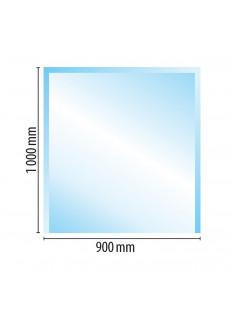 Sklo pod kamna typ F5, 1000 x 900 x 6 mm